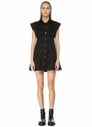 Sandro Sandro  Kısa Kol Mini Gömlek Elbise 101627267 Siyah